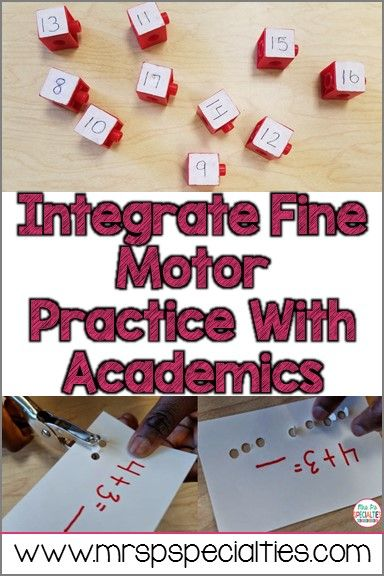 Our students are too beedy to teach every skill in isolation. We must combine skills to develop functional skills in our students. Here are 4 ideas for integrating academics and fine Motor.