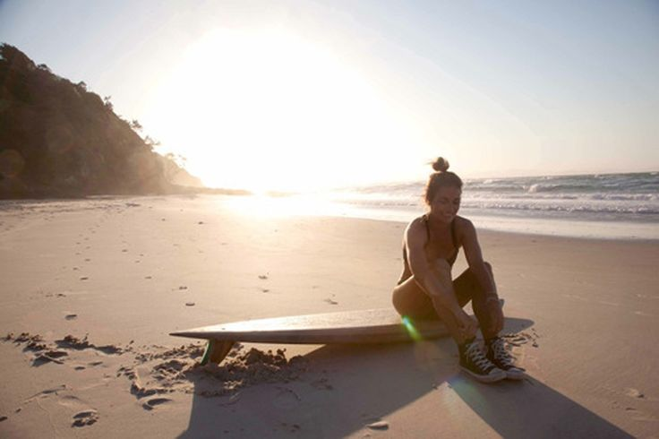 Me pre surf at Wategos on sunset.