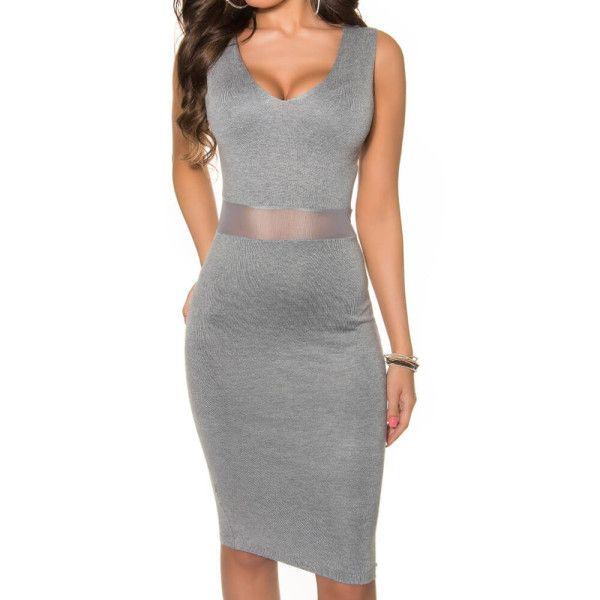 Sivé šaty Koucla | OblecTo.sk