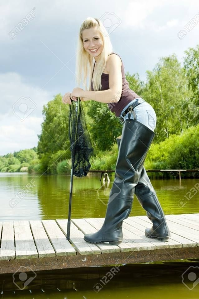 Pin by eric on boots en waders pinterest high boots for Fishing waders with boots