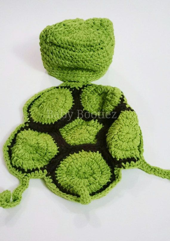 Check out this item in my Etsy shop https://www.etsy.com/ca/listing/261749106/baby-turtle-crochet-outfit-photography