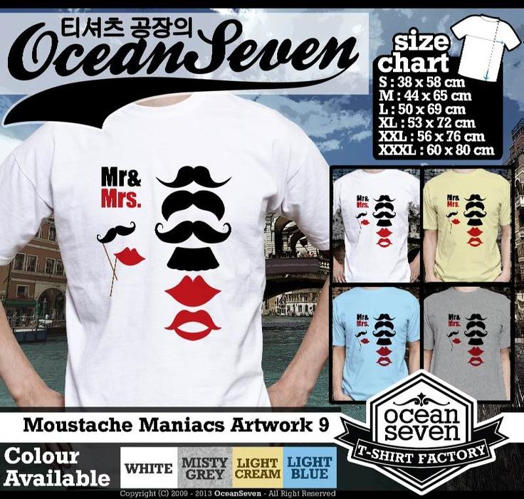 Kaos Moustache Maniacs Art Work