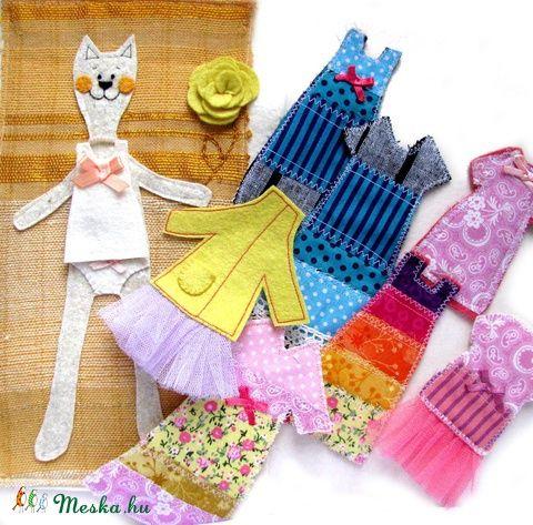 Öltöztetős cica játék, Baba-mama-gyerek, Játék, Meska