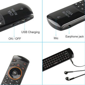 RII i25A K25A 2.4Ghz Wireless Air Mouse Keyboard Infrared Remote Control Audio Chat Learning For Projector PC Sale - Banggood.com