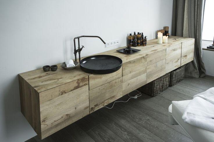 sink detail for spa room | hotel wiesergut | by gogl architekten
