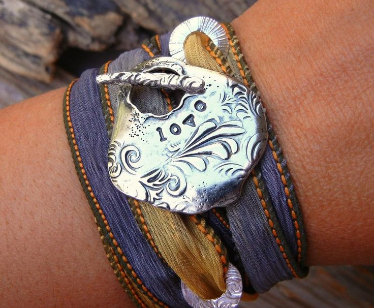Silk Wrap Bracelet Silk Wrap Bracelet Gift for Her by HappyGoLicky, $49.95