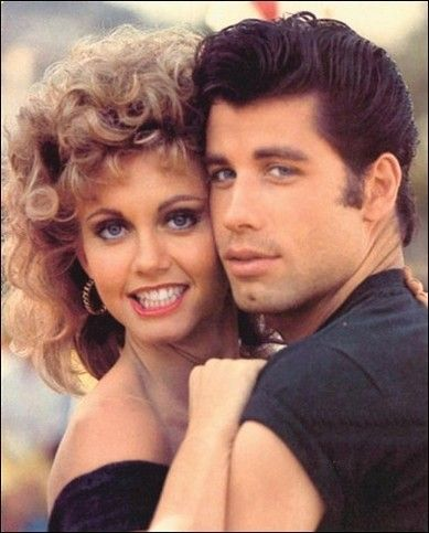 John Travolta Grease | Photograph of John Travolta Grease movie w/ singer Olivia