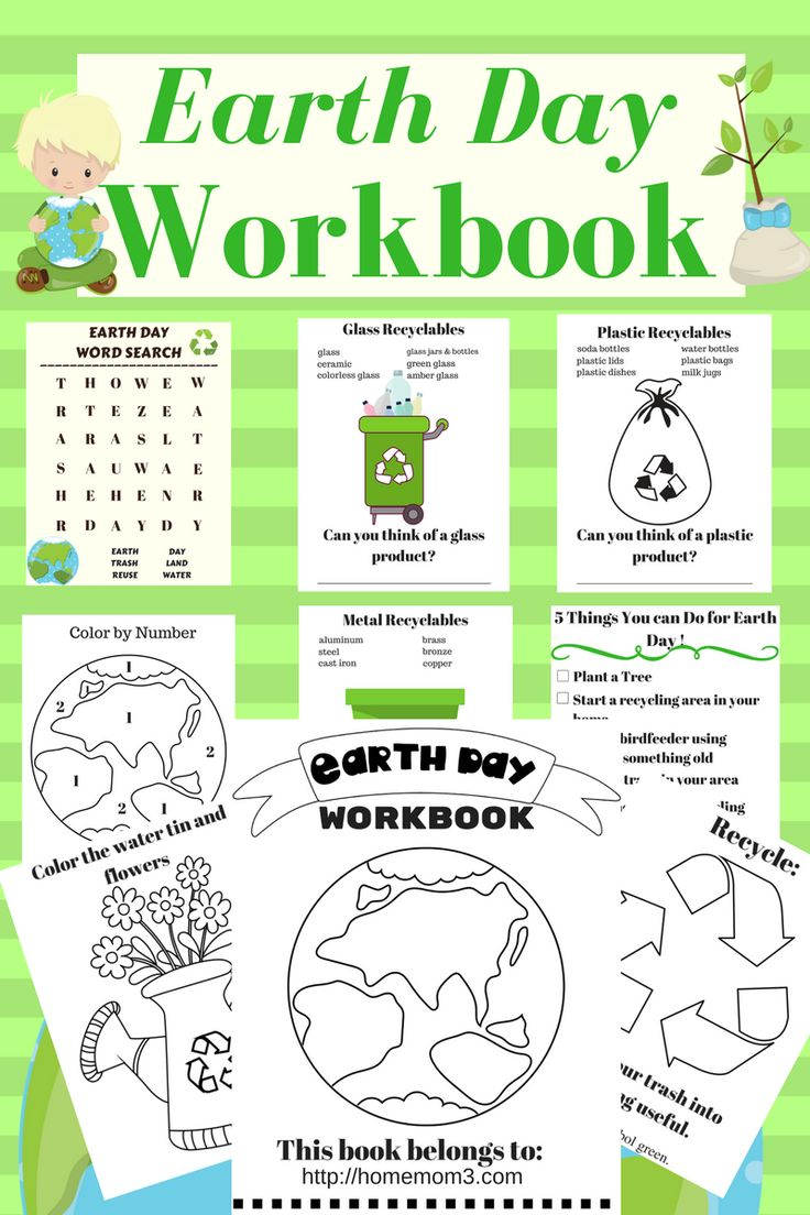 Coloring pages for earth day - Download Your Free Earth Day Workbook For Little Ones Inside Are Earth Day Facts