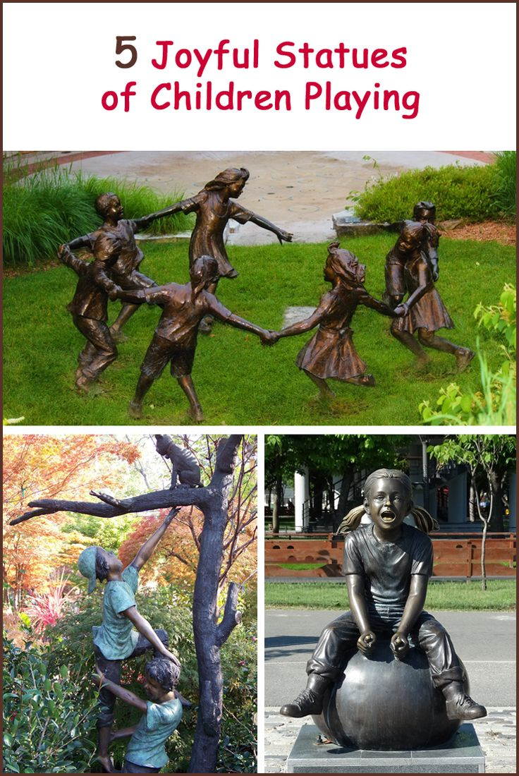Delightful statues of boys and girls playing, laughing and enjoying life!