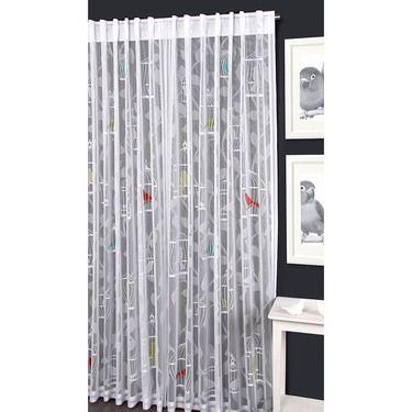Caprice Bird Cage Concealed Tab Top Curtains Multicoloured 140 x 213 cm | Spotlight Australia