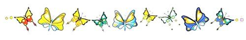 """Butterflies Lower Back or Armband Temporary Body Art Tattoos 1"""" x 6"""". Safe & Non Toixc FDA certified colorants. Easy to Apply! Comes with instructions!. Easy to Remove! Temporary is the idea!. Lasts 3-5 Days on average!."""