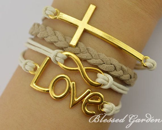 Infinity bracelet, cross bracelet, love bracelet, shop at Costwe.com
