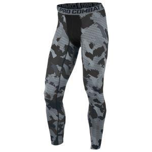 Nike Pro Combat Core Compression Camo Tight - Men's - Black/Cool Grey