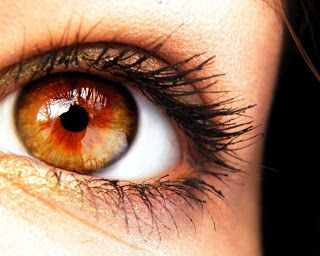 Amber is a very rare eye color and also known as 'wolf eyes', since amber eye color is very common in wolves.  Amber eyes can be defined as the ones having a strong yellowish/golden and russet/coppery tint. The reason behind amber eyes is the deposition of 'lipochrome', the yellow pigment, in the iris. - finally an explanation as to why my eyes go this colour in sunlight...I'm a wolf!