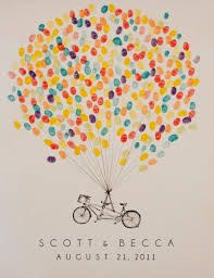 thumbprint guest book - Google Search