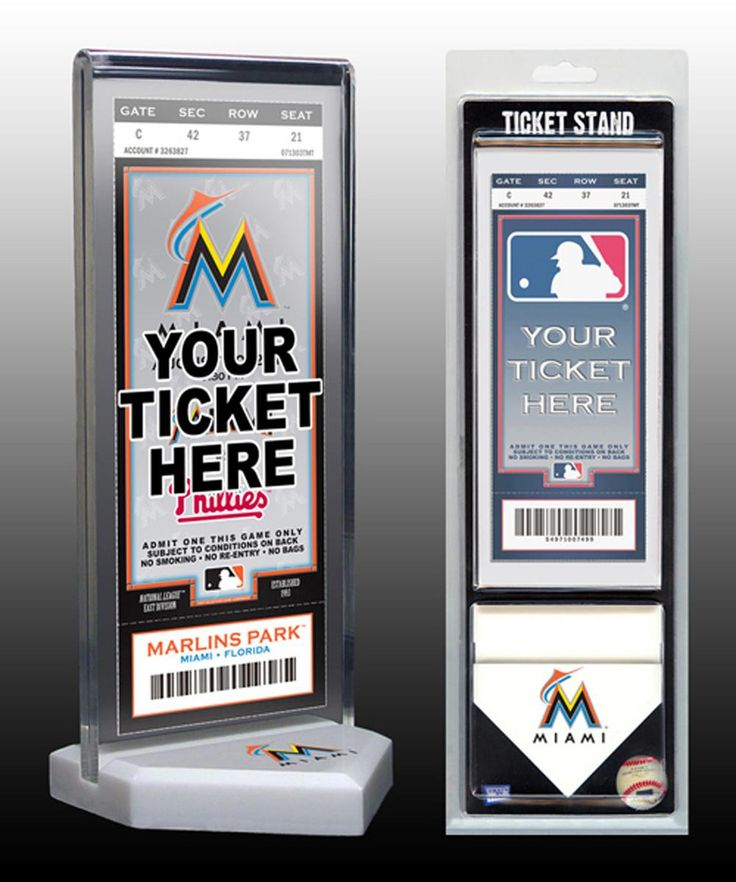 Thats My Ticket Miami Marlins Ticket Stand