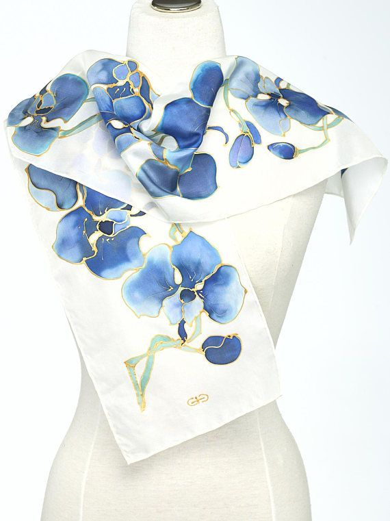 Silk Square Scarf - Sunset Plumeria by VIDA VIDA
