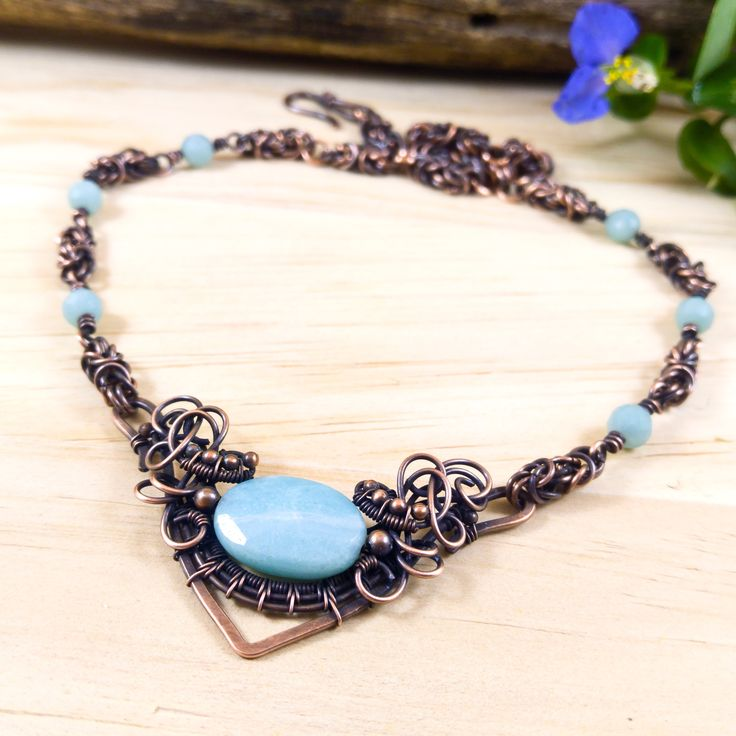 13 best Necklaces. Unique handmade wire wrapped jewelry with natural ...