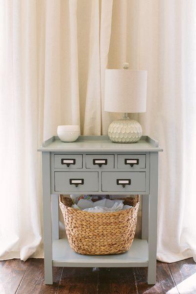 slate blue side table | Ashleigh Jayne