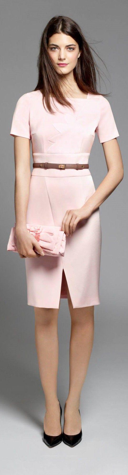 Paule Ka coral suit. Fall autumn women fashion outfit clothing stylish apparel @roressclothes closet ideas