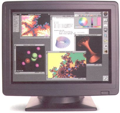 The NeXTstaion  provided 16 million colors in its display