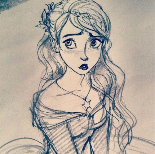 Awesome rapunzel sketch
