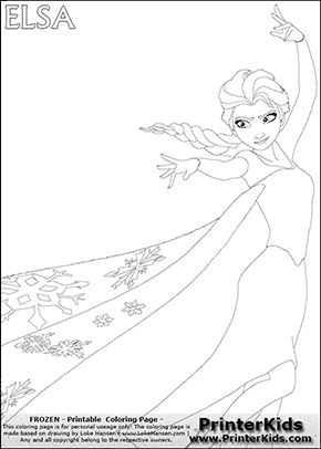 disney frozen elsa magic big sister coloring page 5