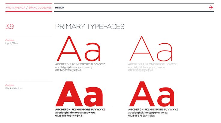 brand guidelines - typography - Virgin