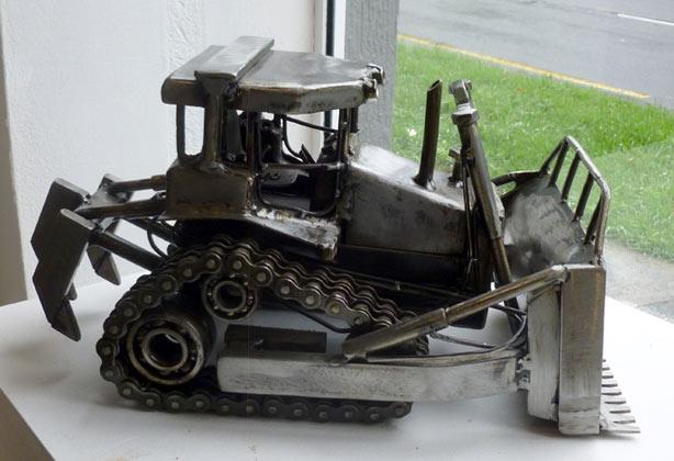 Jamie Schena's sculpture 'Bulldozer'