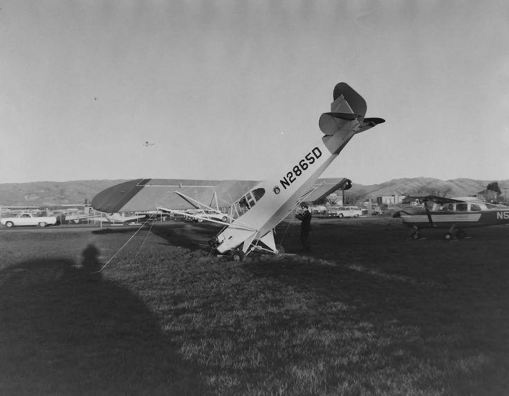 A CAP Piper J3 Cub in an accident in 1966.