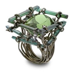 Jumanji - Jean-Christophe: Green Tourmaline, Jeans Christopher, A Mini-Saia Jeans, Black Rhodium, Gold Rings, Black Gold, White Gold, Christopher Jumanji, Jumanji Rings