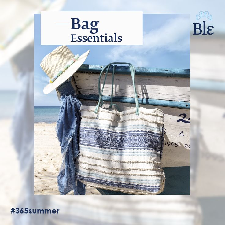 So many things you need at the beach, so little space to carry them… or not?  The new collection of Ble Resort's bags, like the one featured below, fits everything! Beautiful ocean and earthly colours make up choices designed for the beach but perfect for your summer evening walks as well.  Find it here www.ble-shop.com