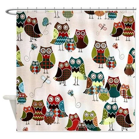 The 20 Best Owl Shower Curtains Images On Pinterest