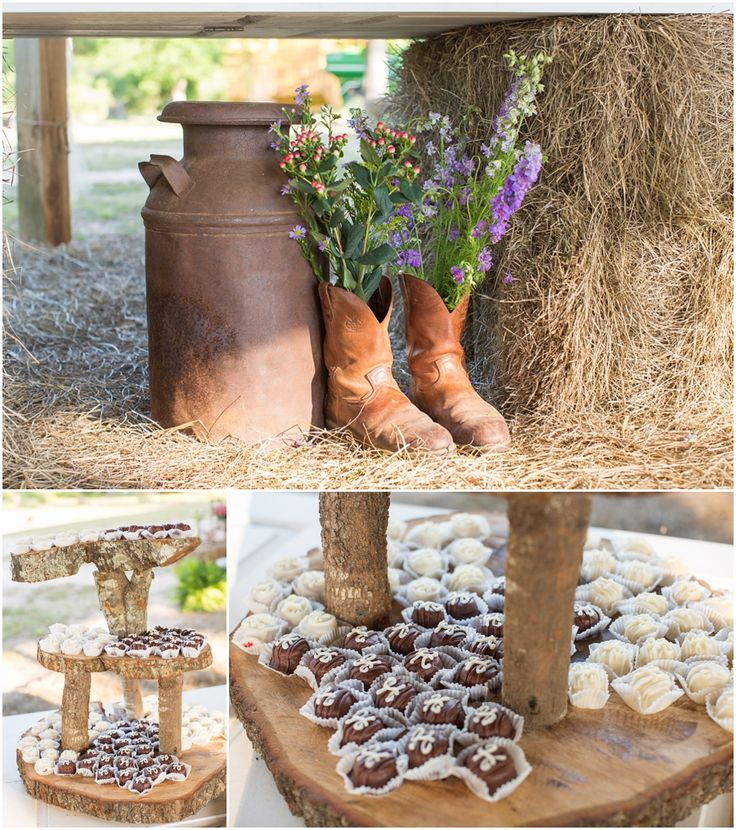 Country Wedding Reception Decor Erin Lindsey Images