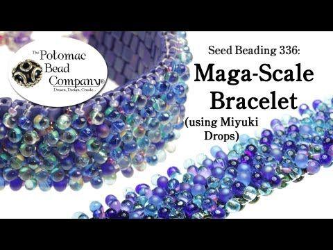 Maga-scale Bracelet (With Miyuki Drops) - YouTube