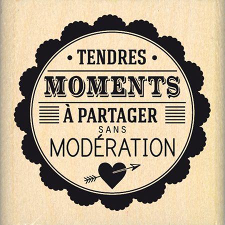 Tampon bois - Envolée de Douceur - Moments   -