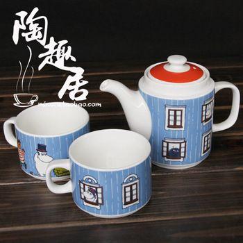 Moomin tea service set - stacks into Moomin house