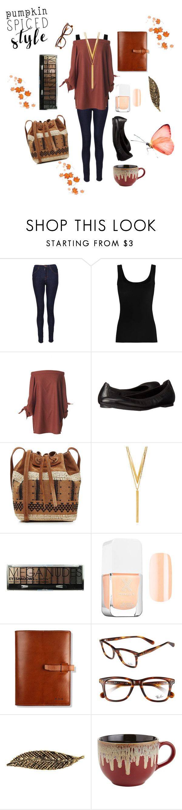 """""""fall"""" by skylovessave ❤ liked on Polyvore featuring J Brand, Twenty, TIBI, Børn, Vanessa Bruno, BERRICLE, Ray-Ban, Carole and Pier 1 Imports"""