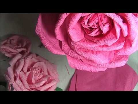 CREPE PAPER PEONY FLOWER TUTORIAL - YouTube