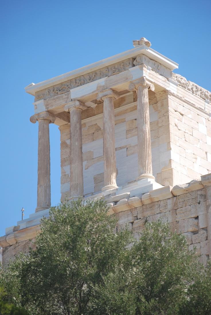 The temple was originally built for Athena, goddess of wisdom.