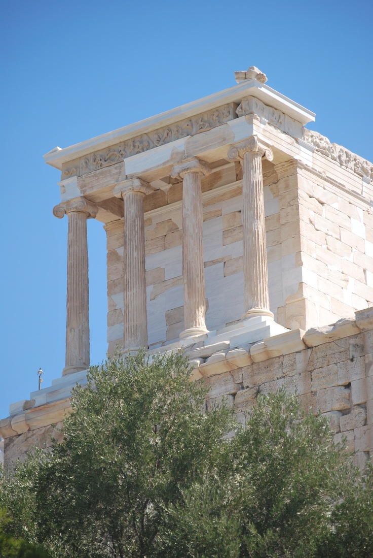 The temple was originally built for Athena, goddess of wisdom.