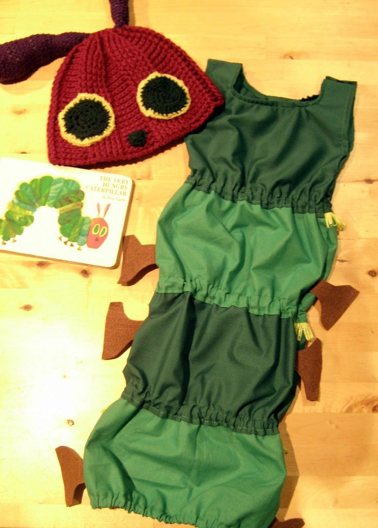 DIY - Die kleine Raupe Nimmersatt - Kostüm // Very Hungry Caterpillar costume…