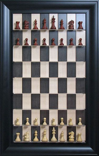 Vertical Chess Set- this would be cool on the wall outside the bathroom when guests are waiting..LOL