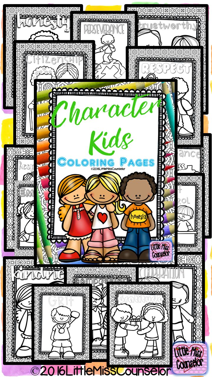 coloring pages character education - photo#45