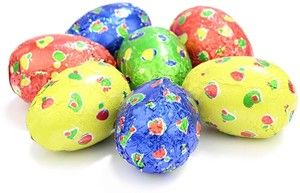 Chocolate Trading Co Spotty chocolate Easter eggs - Drum of 40 Milk chocolate Easter eggs made from high quality, hollow chocolate. Colourfully foil wrapped in a spotty design. These Easter eggs are sold in bulk for use in Easter eggs hunts and optional gift bags http://www.MightGet.com/february-2017-2/chocolate-trading-co-spotty-chocolate-easter-eggs--drum-of-40.asp
