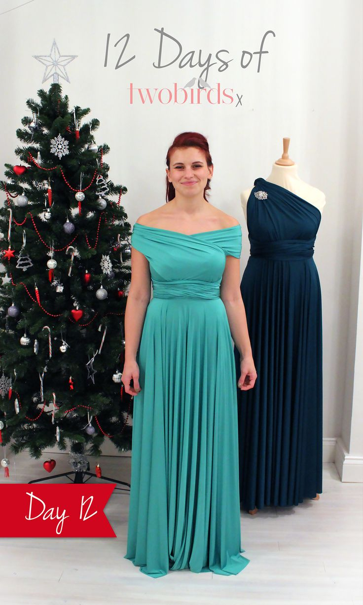 12 Days of twobirds Day 12.  Another gorgeous off-the-shoulder wrap that reminds us of a Disney princess. This is your last chance to enter our competition to win your very own twobirds multiway dress in time for Christmas.  To enter, simply re-pin this and tell us which of the 12 Days of twobirds styles is your favourite in the description. For the back view and the competition terms & conditions click the pic. #love2b