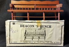 Vintage Chadwick's Deacon's Bench - Doll House Furniture - In Original Box!