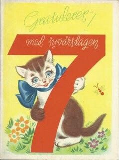 George Schumann gratulasjonskort 7 år