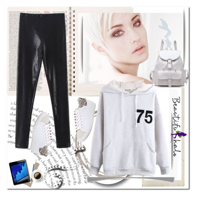 """""""Hooded Long Sleeve Letter Print Plain Sweatshirt"""" by ilona-828 ❤ liked on Polyvore featuring IRO and bhalo"""