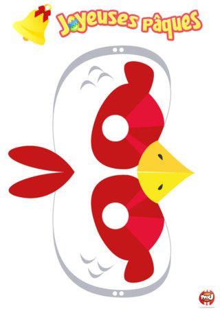 Coloriage : Imprime ce masque gratuit pour enfant de poule spécial Pâques sur TFOu.fr !